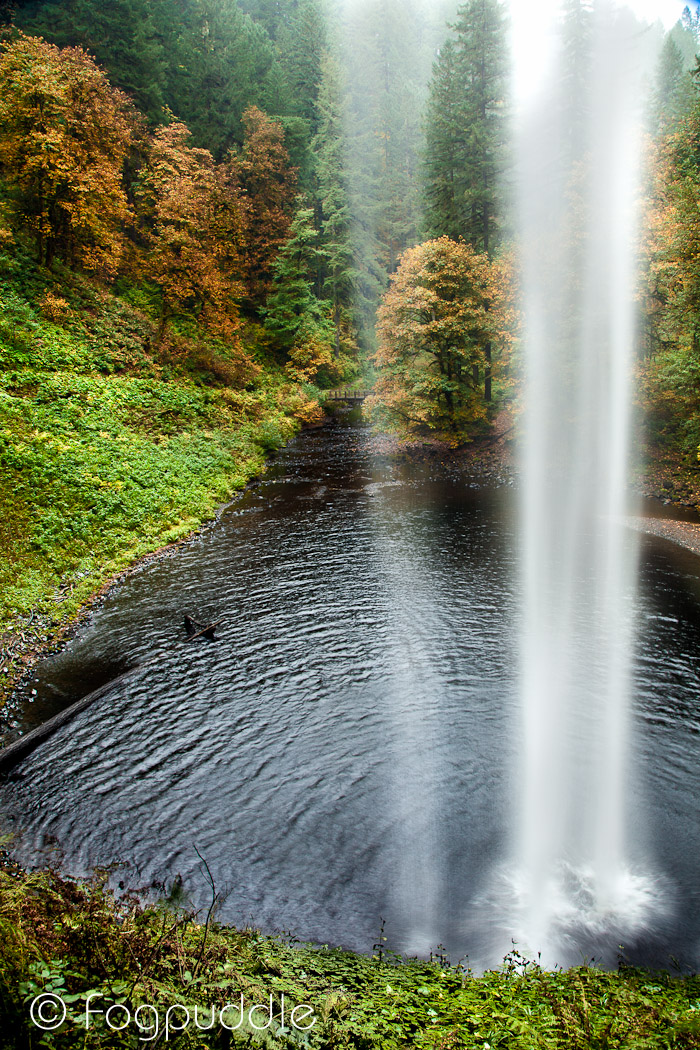 Silver Creek Falls, From Behind