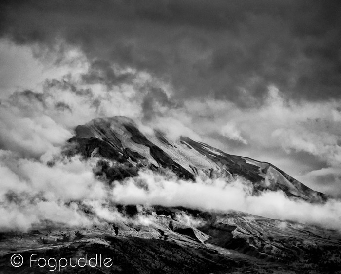 Worldwide Photo Walk - Mt St Helens - Closeup Black and White