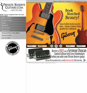 Private Reserve Guitars